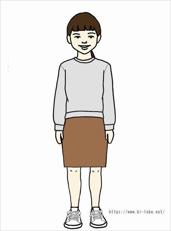 低身長にちょうどいいスカート丈3
