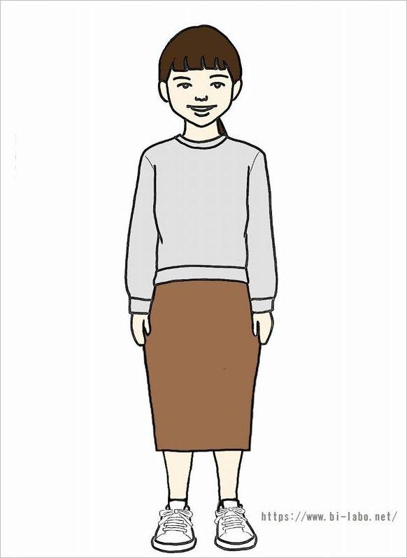 低身長にちょうどいいスカート丈2