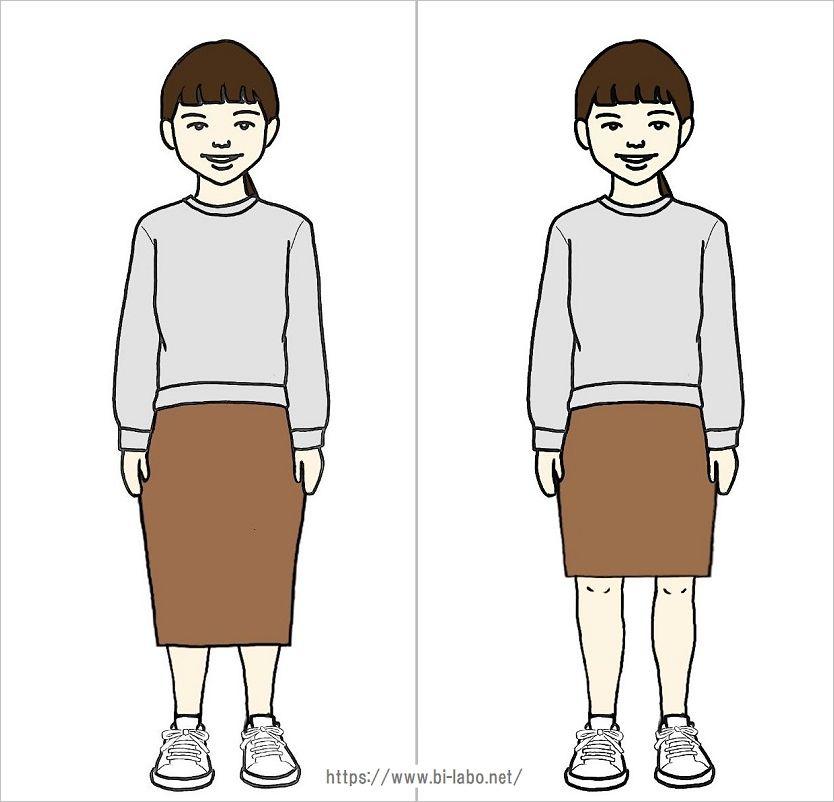 低身長にちょうどいいスカート丈4