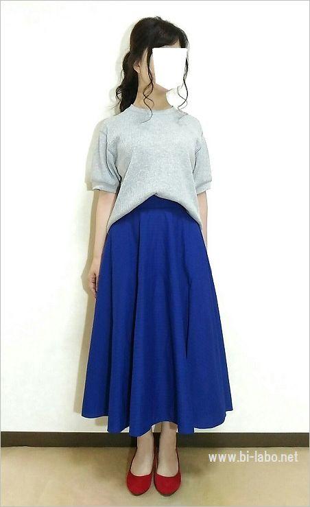 低身長にちょうどいいスカート丈6