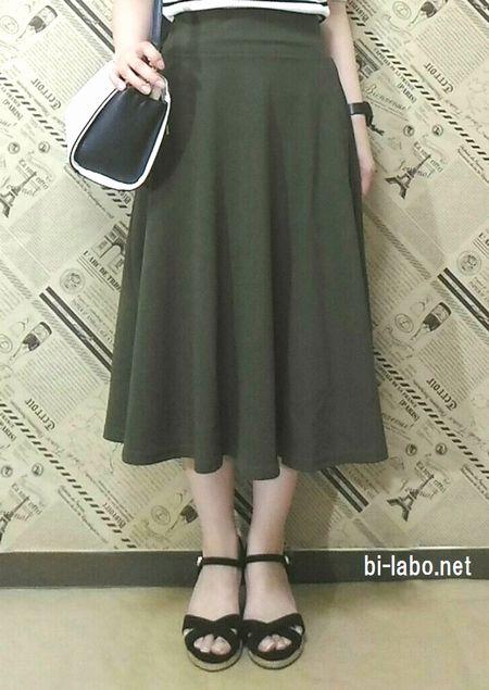 小柄な女性にも合う、秋先取りスカートファッション4
