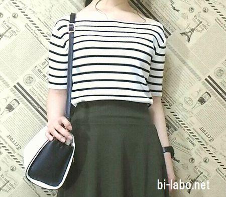 小柄な女性にも合う、秋先取りスカートファッション3