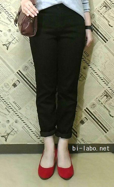 背が低い女性向け、秋のパンツコーデ9233