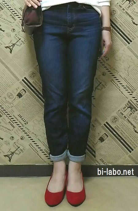小柄な女性向け、秋のパンツコーデ1017-3
