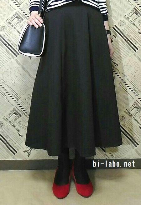 背が低い女性向け、きれいめスカートコーデ104-3