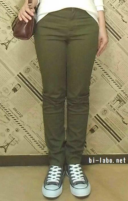 背が低い女性向け、GUニットを使った大人カジュアルコーデ331-3