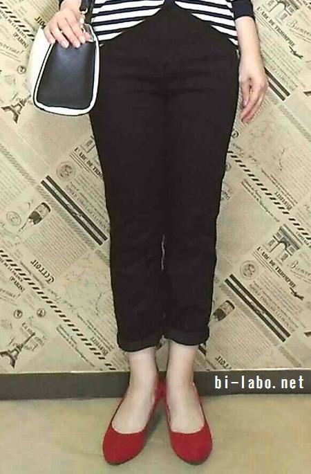 小柄な女性向け、ユニクロジーンズを使った大人のきれいめコーデ324-3