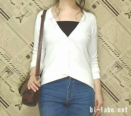 背が低い女性向け、白スニーカーで作る春のきれいめコーデ58-2