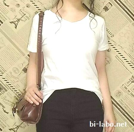身長150cm以下女性向け、白Tシャツとスニーカーを使った夏のきれいめコーデ608-2